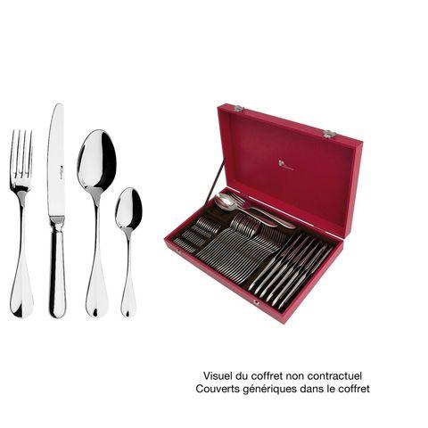 Набор столовых приборов  на 12 персон, 50 предметов, нержавеющая сталь , серебристый, артикул 165127, серия Beau Manoir