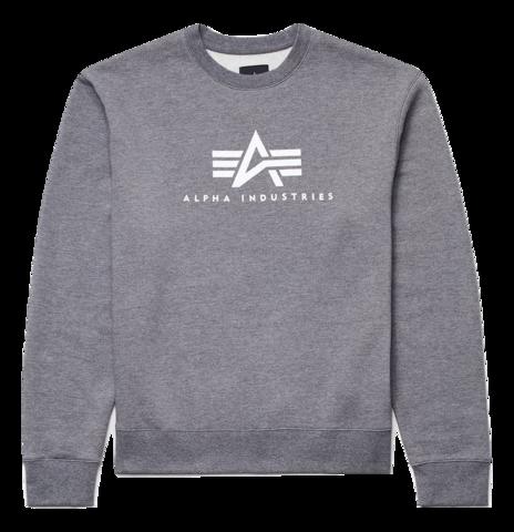 Свитшот Alpha Industries Basic Logo Sweatshirt (серый)