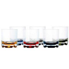 WATER GLASS, PARTY – COLOURFUL BASE