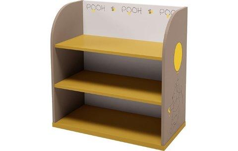 Стеллаж детский Polini kids Disney baby 810 'Медвежонок Винни и его друзья', с корзинами, желтый-мак