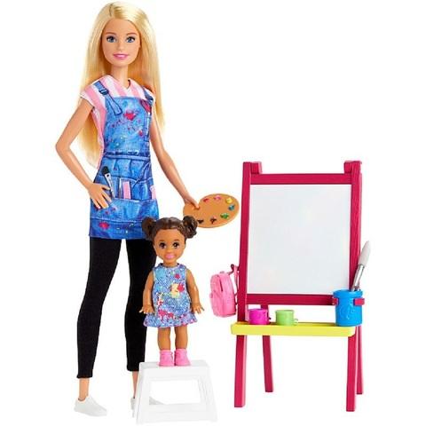 Барби Игровой Набор Учитель Рисования с Малышкой