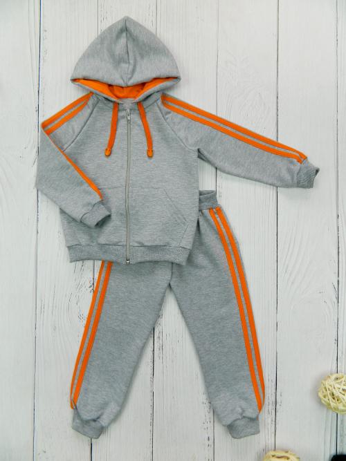 Костюм 3041, серо-оранжевый