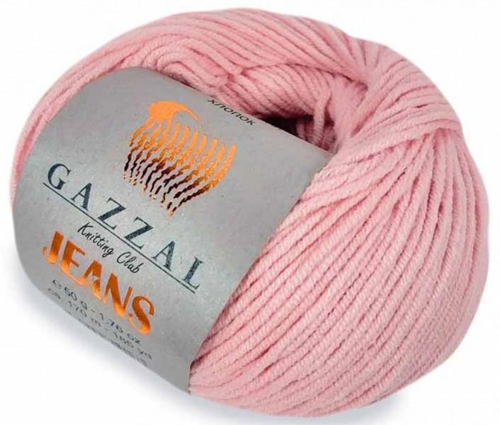 Пряжа Gazzal Jeans 1116 нежно-розовый