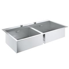 Мойка кухонная с двумя чашами Grohe K800 31585SD0 фото