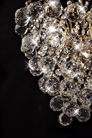 Люстра с хрусталем 3299/6 золото / прозрачный хрусталь