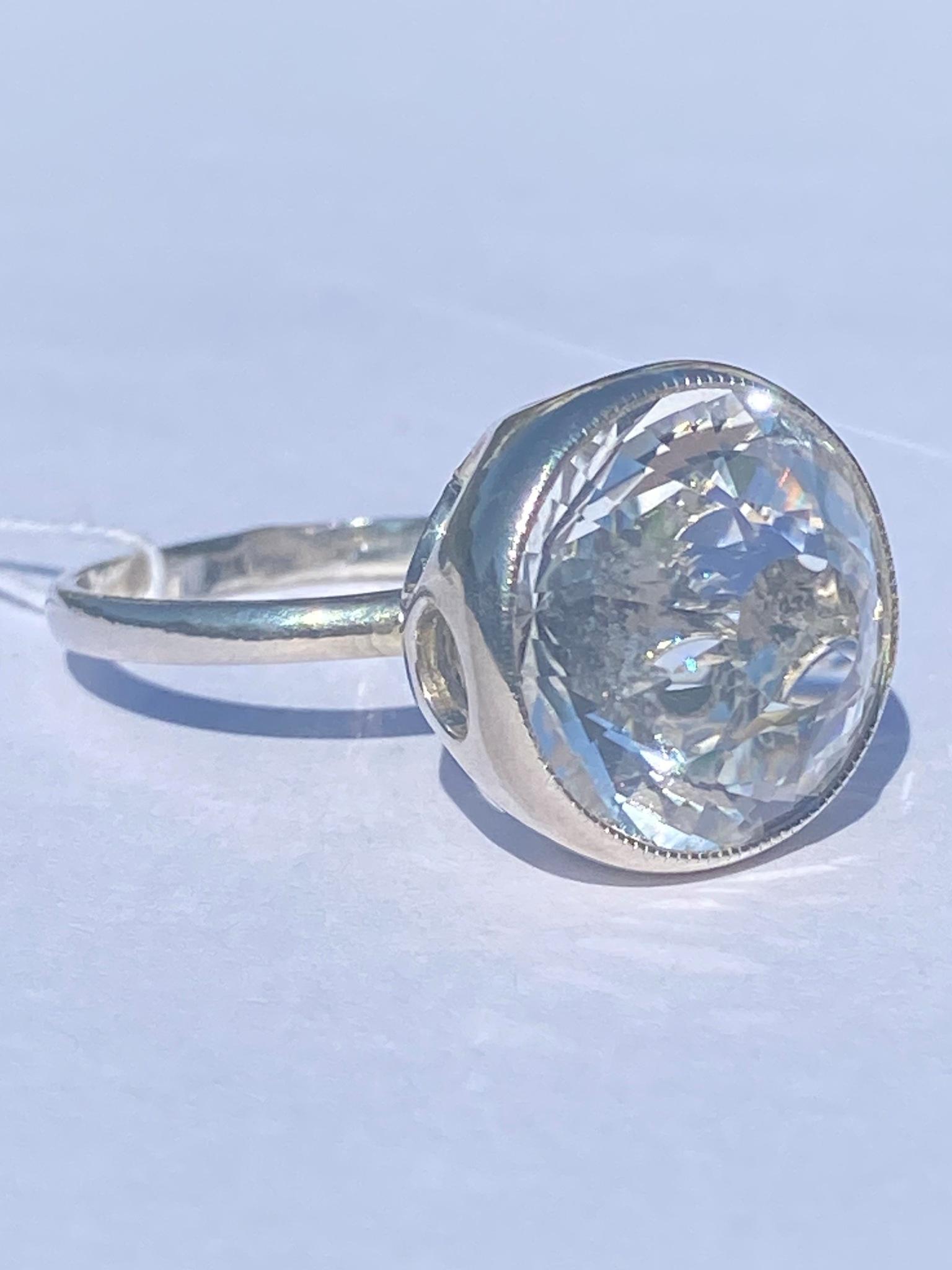 Горный хрусталь 535  (кольцо из серебра)