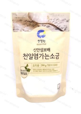Соль пищевая морская Sea Salt Daesang, зип пакет, Корея, 280 гр.