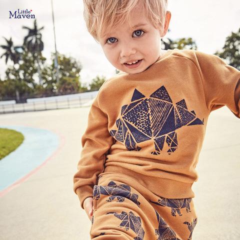 Утеплённый костюм для мальчика Little Maven Супер Дино