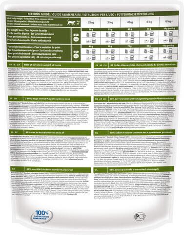 купить хиллс Hill's™ Prescription Diet™ Feline Weight Managemen wiht Chicken сухой корм для взрослых кошек, диетический рацион для коррекции веса 1.5 кг