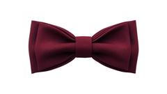 Однотонный галстук - бабочка (темно-бордовый)