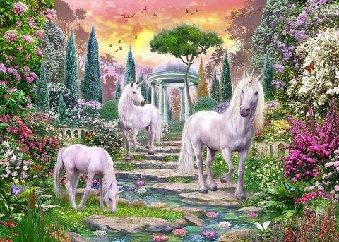 Алмазная Мозаика 20x30 Сказочный мир единорогов