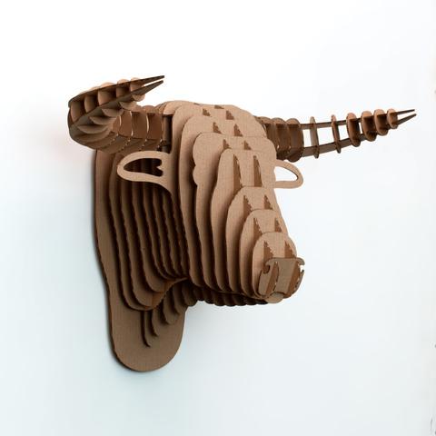 Голова Быка ДекорКоми на стену (3D конструктор)