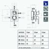 Встраиваемый смеситель для душа YPSILON 661503S на 3 выхода - фото №2