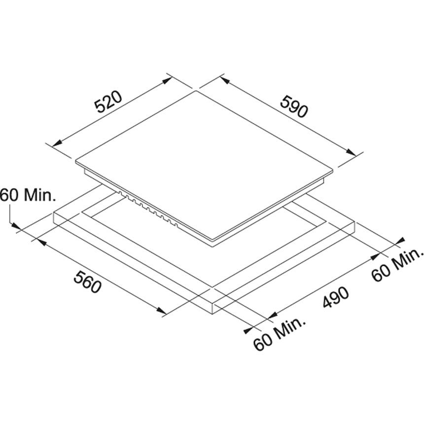 Стеклокерамическая варочная поверхность Franke Smart FHR 604 C T XS