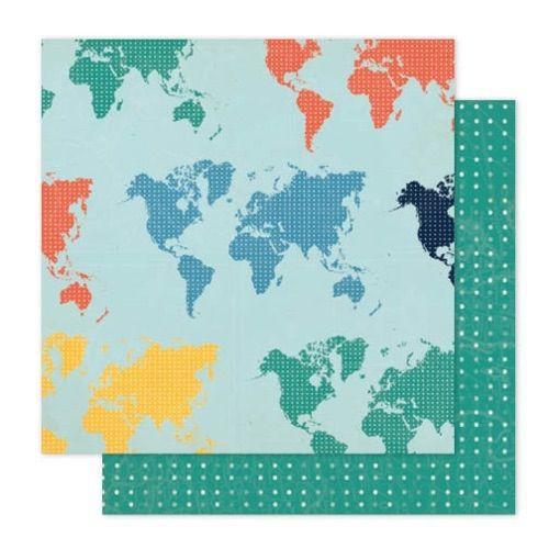 Лист двухсторонней бумаги Atlas  30x30см