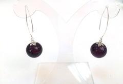 Серьги Perla Grazia фиолетовые (Amethyst)