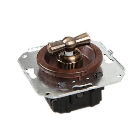 Выключатель двух позиционный для внутреннего монтажа проходной. Цвет Вишня. Salvador. CL11CH