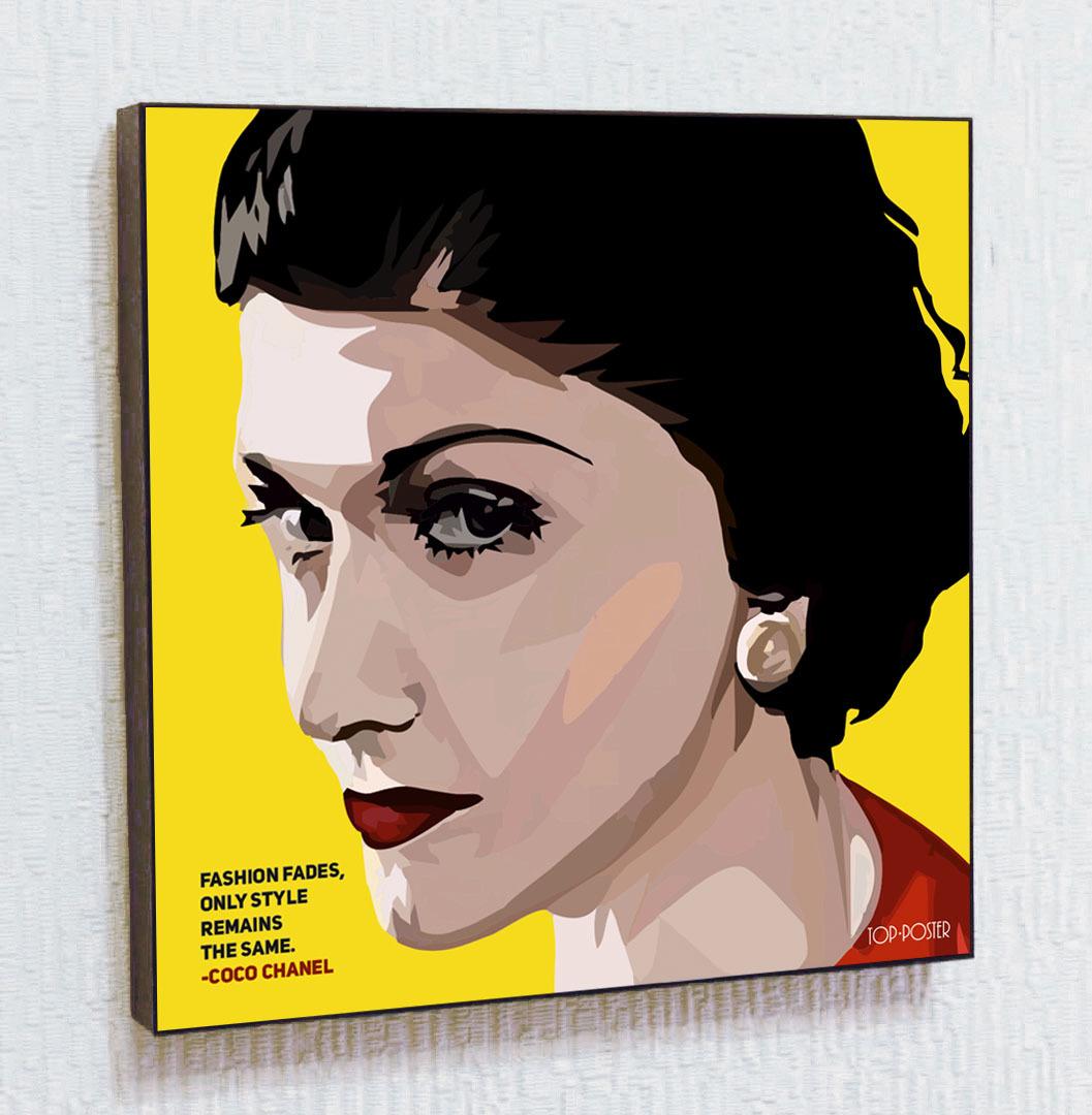 Коко Шанель Картина ПОП-АРТ портрет постер