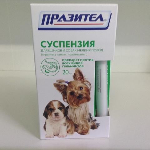 Празител суспензия для щенков и собак мелких пород 20 мл