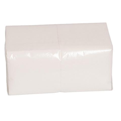 Салфетки бумажные 24x24 см белые 1-слойные 600 штук в упаковке
