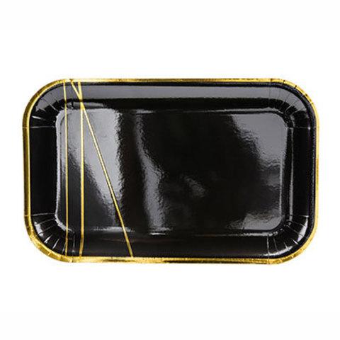 Тарелки Black&Gold Линии, 6 штук