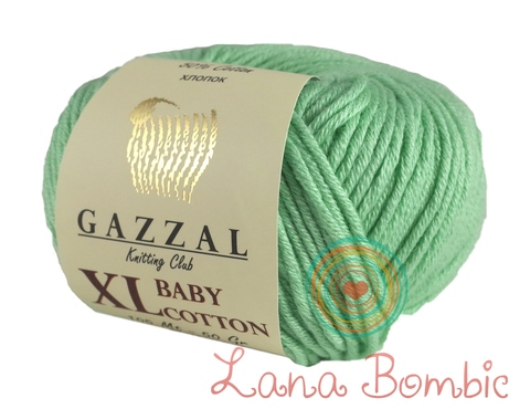 Пряжа Gazzal Baby Cotton XL 3425 мята