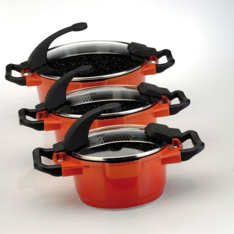 Кастрюля с крышкой 16см 1,5л Virgo Orange