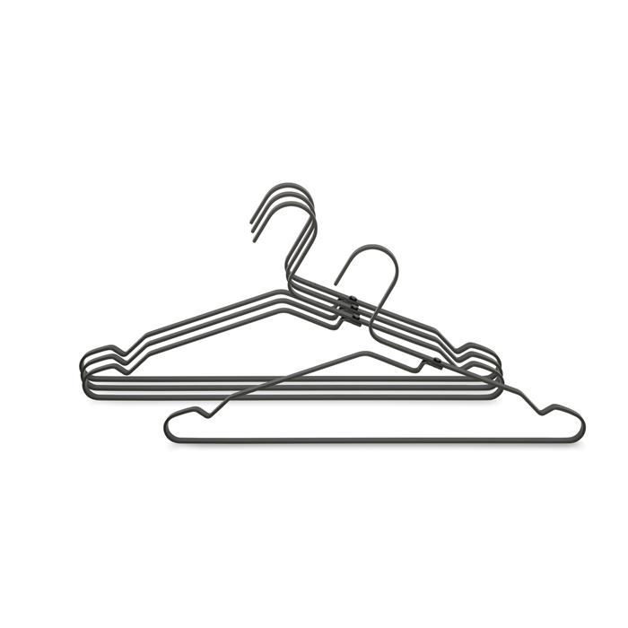 Алюминиевые вешалки для одежды 4 шт., Черный, арт. 118647 - фото 1