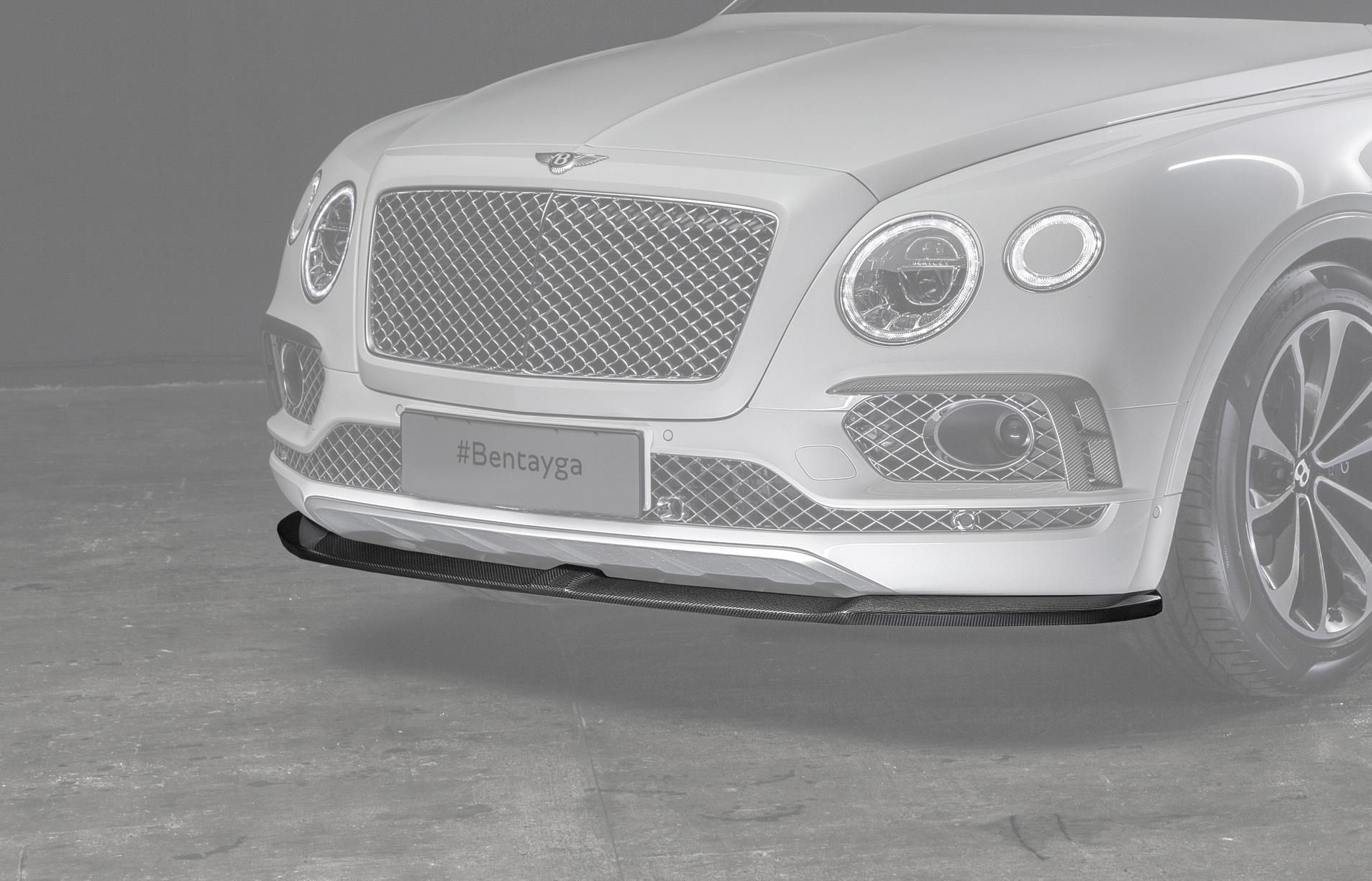 Карбоновый спойлер переднего бампера для Bentley Bentayga Копия