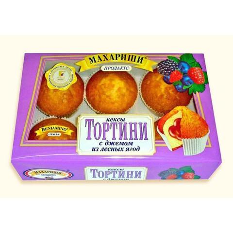 Кексы Махариши Тортини лесные ягоды 200 г