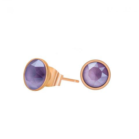 Пусеты Crystal Lilac SWE298 CL RG
