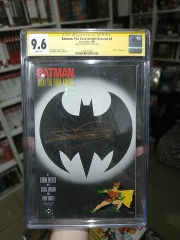 CGC Batman: The Dark Knight Returns #3. Автограф Фрэнка Миллера. Состояние 9,6