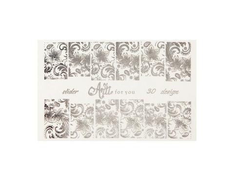 Фольга для дизайна ногтей цвет серебро 30 купить за 120руб