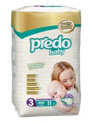 Predo. Подгузники Baby Стандартная пачка № 3 (4-9 кг Midi), 11 шт. вид 1