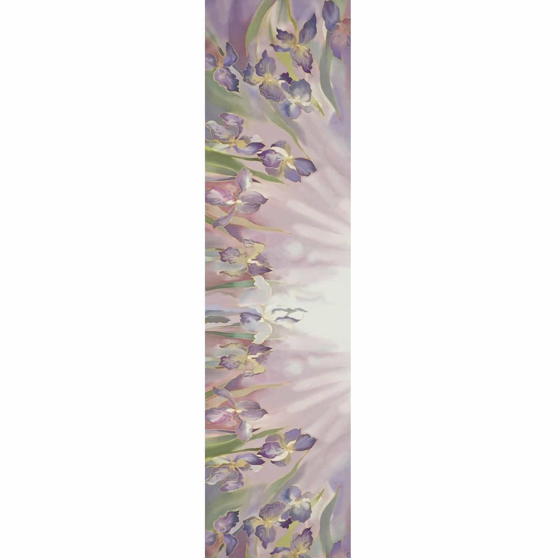 Шелковый шарф батик Нежные Ирисы С-57