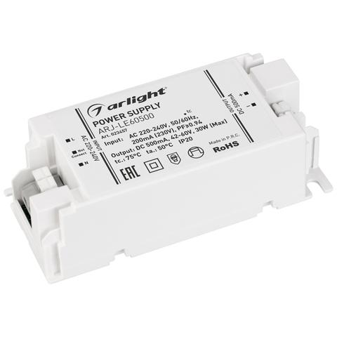 Блок питания ARJ-LE60500 (30W, 500mA, PFC) (ARL, IP20 Пластик, 3 года)