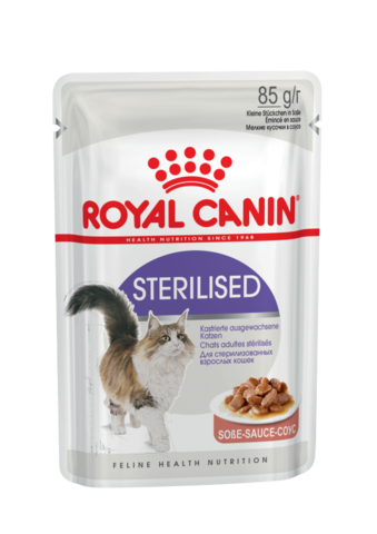 Royal Canin Sterilised пауч для стерилизованных кошек кусочки в соусе (мясо) 85 г