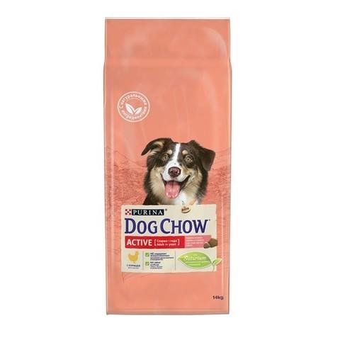 Purina Dog Chow PURINA DOG CHOW Сухой корм для активных взрослых собак с курицей Active