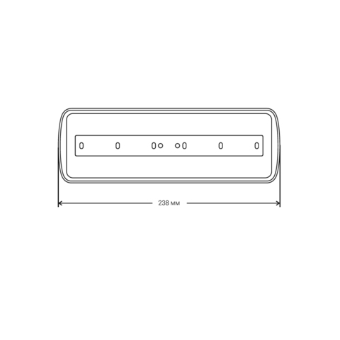 Световые настенные указатели PL EML 1.0 – размеры