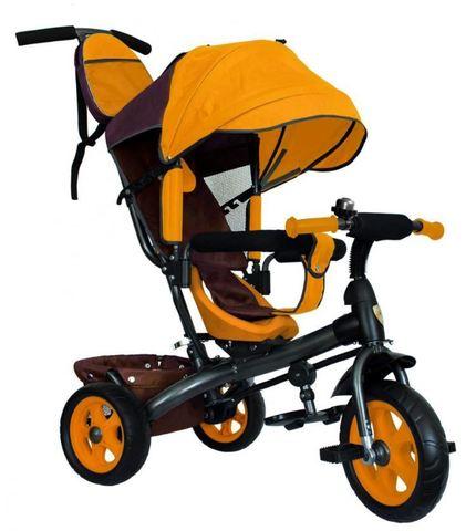 Велосипед детский с литыми колёсами (жёлтый-серый)