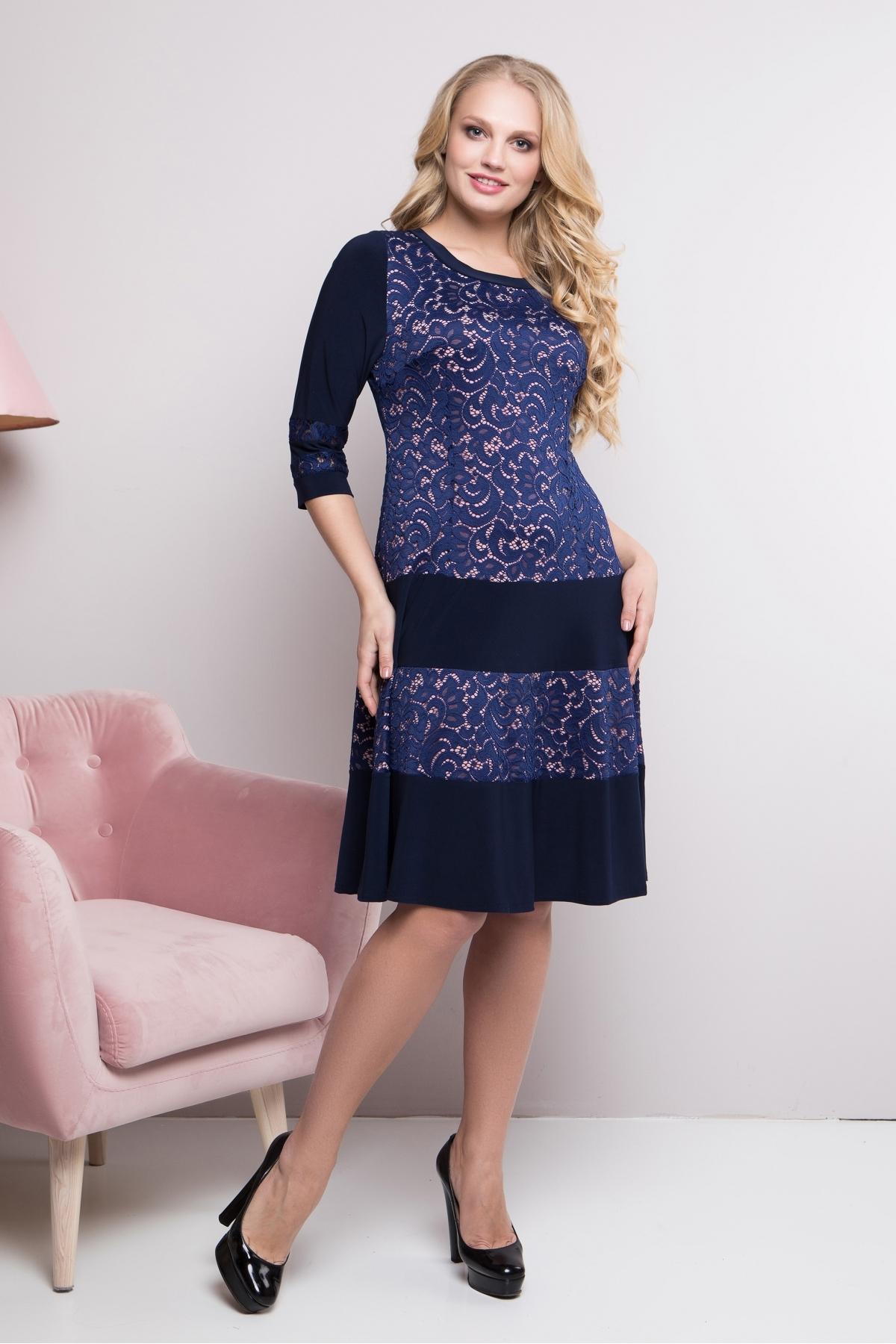 Платье Персик (синий)