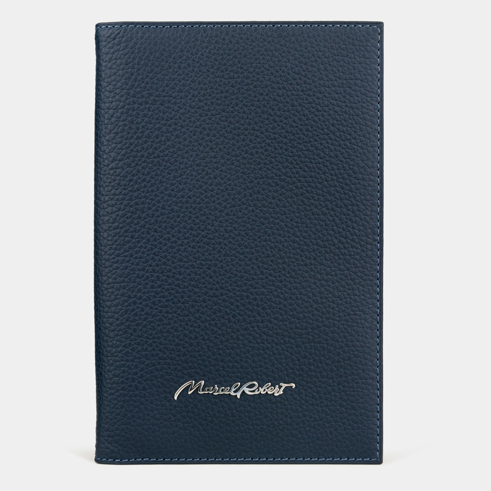 Длинный кошелек Secret Easy из натуральной кожи теленка, цвета синий мат