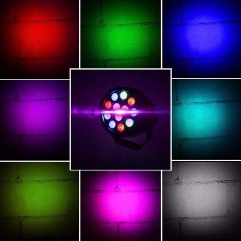 Прожектор светодиодный многоцветный LED Par Light Mini 12 LED RGB Диско, прожектор