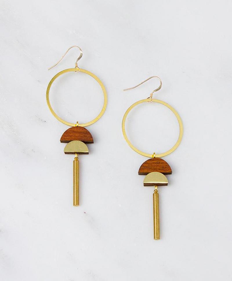 Серьги Dawn Earrings Wood