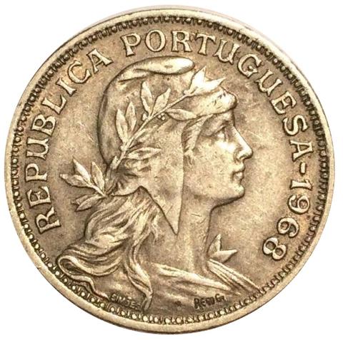 50 сентаво Португальская Республика (1911-1969) 1968 год, Португалия. aUNC