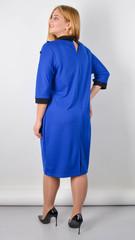 Доротея. Женское платье большого размера. Электрик.