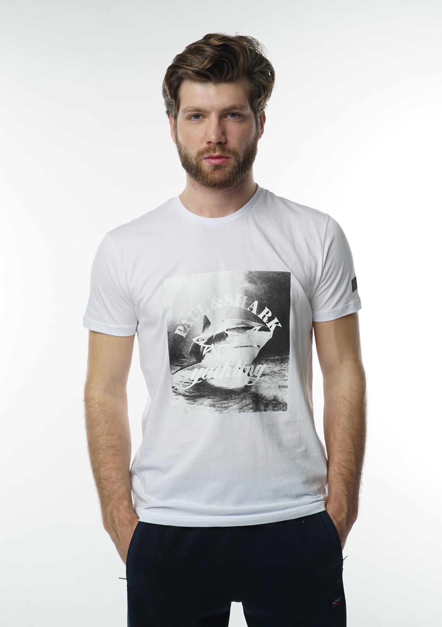 "Мужские футболки Футболка ""Paul and Shark"" 1070 White DSC07731.JPG"