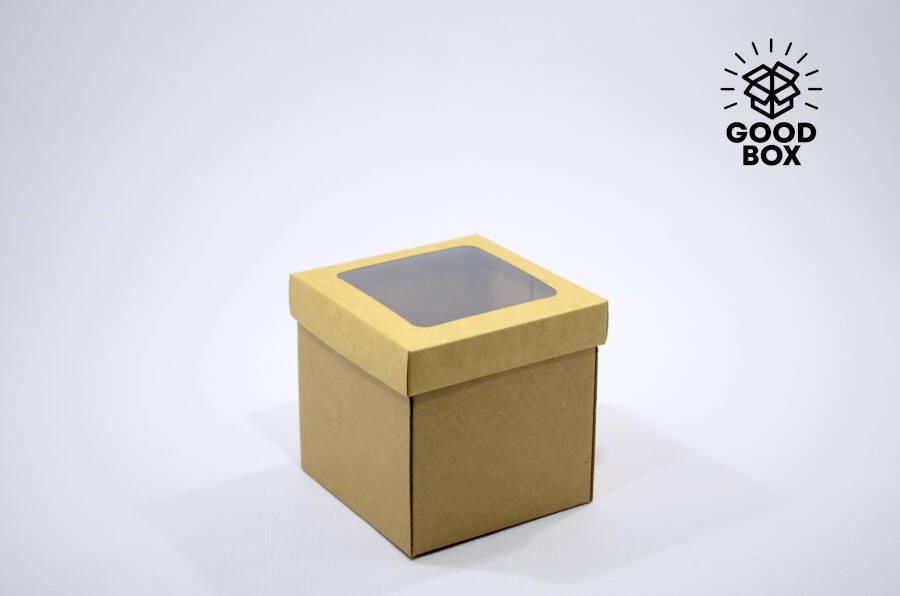 Крафт коробка с окошком купить оптом