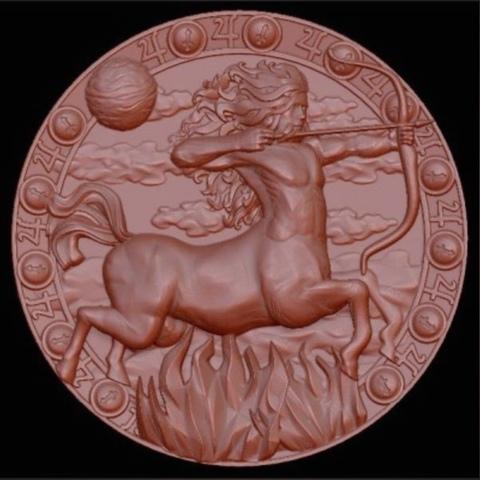 Силиконовый молд №   медальон  Стрелец