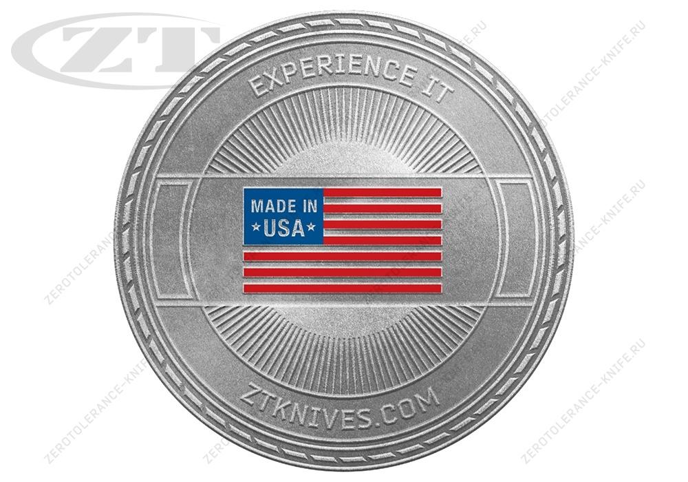 Монета Zero Tolerance Challenge Coin - фотография